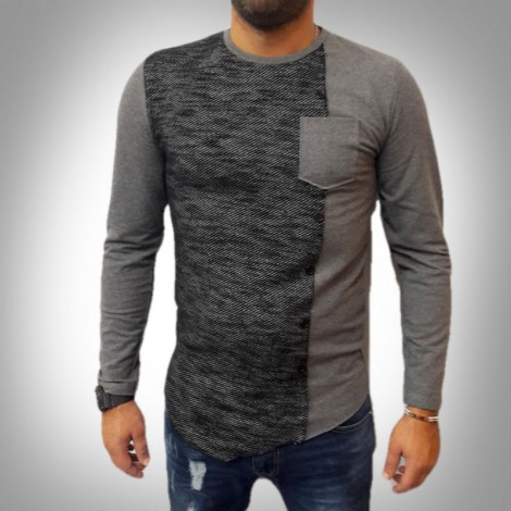 UOMO T-SHIRT TATTOO EFFETTO HIPSTER Slim Vintage ITALY cardigan giacca S,M,L,XL